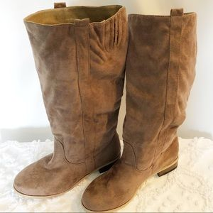 New Women's Light Bown Charles Albert Suede Boots